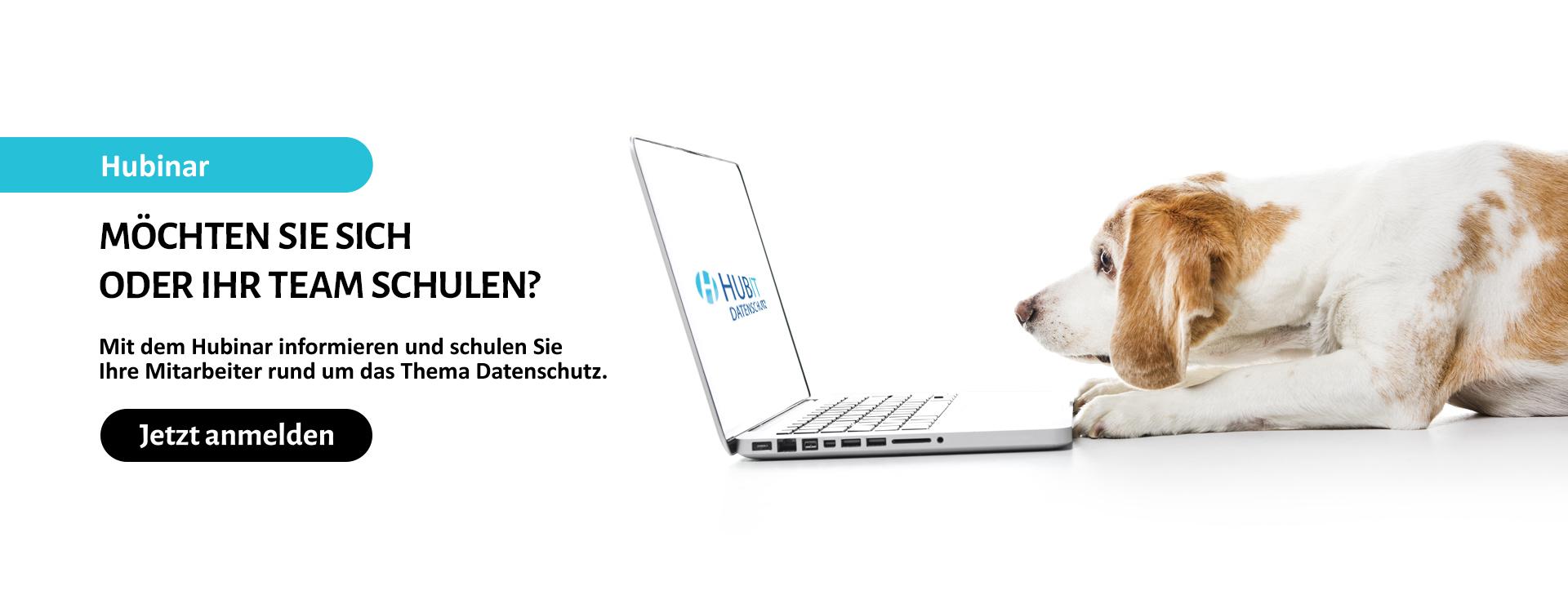 Datenschutz Hubinar (HUBIT Online Seminar). Jetzt registrieren