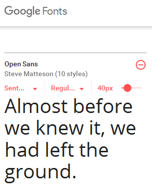 Google Fonts download